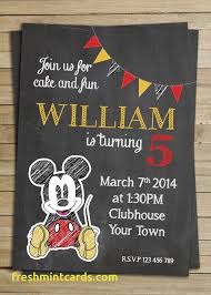 diy mickey mouse birthday invitations