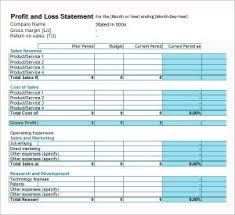Profit Loss Statement Form For Self Employed Free Printable