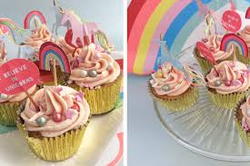 Fiona Cairns Magical Unicorn Cupcakes Party Pieces Blog Inspiration