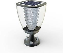 Solar Gate Lights Price In India Tapetum Solar Gate Post Lamp All In One Integrated Emergency