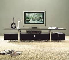 clearlined design contemporary brown color tv stand with glass
