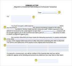 Free Demand Letter for Money Owed PDF Format