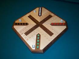 Wooden Aggravation Game Inlaid Wooden Maple and Walnut Aggravation Board 8