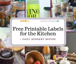 Recipe Labels 6 Free Printable Labels For The Kitchen Easy Dessert