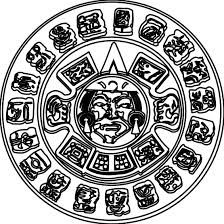 Mayan Calendar Coloring Page Printable Google Search 6th Ss