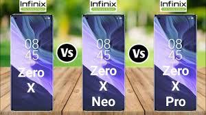 Infinix Zero X Vs Infinix Zero X Neo Vs ...