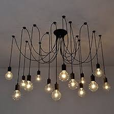 diy ceiling lighting. Fuloon Vintage Edison Multiple Ajustable DIY Ceiling Spider Lamp Light  Pendant Lighting Chandelier Modern Chic Industrial Diy Ceiling Lighting