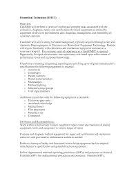Biomedical Repair Sample Resume Medical Equipment Repair Sample Resume Shalomhouseus 14