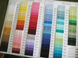 Moda Solid Colour Chart Chart Color Kona Cotton