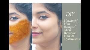 diy permanent unwanted hair removal mask how to remove hair how to get rid of hair