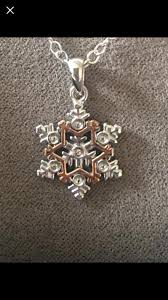 clogau snowflake swarovski white topaz necklace