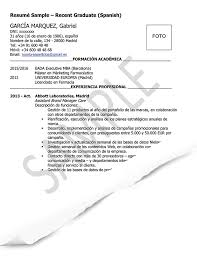 cv sample resume cv samples spain goinglobal