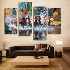 Paintings For Living Room Walls Online Buy Wholesale Horse Canvas Painting From China Horse Canvas