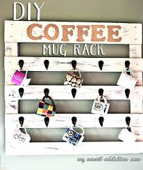 coffee cup rack wall mount coffee cup rack wooden wall mount wood
