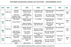 Calendar Wizard 2015 Activity Calendar November 2015 Pressbeau