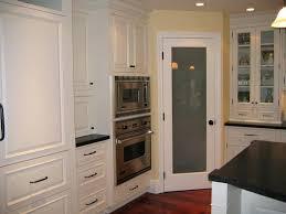 corner frosted glass pantry door