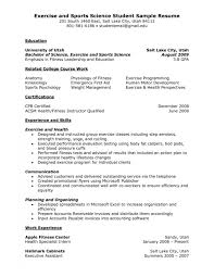 Exercise Science Resumes Exercise Science Resume Examples Under Fontanacountryinn Com