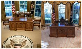pictures of oval office. President Obama\u0027s Office On The Left, Trump\u0027s Right. (Photo: Getty/Facebook) Pictures Of Oval