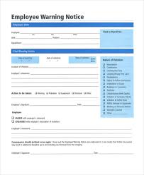 Employee Warning Notices 12 Printable Employee Warning Notice Templates Google