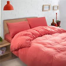 Coral Colored Duvet Cover Sweetgalas With Regard To Attractive ... & 3pieces Color Pink Brown Solid Duvet Covers Satin Cotton With Regard To  Attractive Property Solid Color Duvet Covers Ideas ... Adamdwight.com
