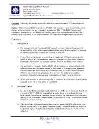 06 001 Medical Incident Review Process Peninsulas Ems Council