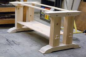 Kitchen Table Legs For Trestle Table Woodworking Plans Trestle Table Base Fcf