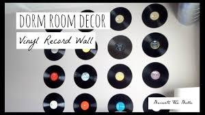 dorm room decor diy vinyl record wall