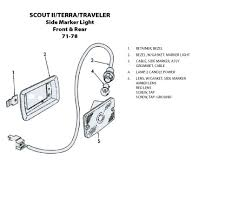 scout connection electrical system page side marker light front rear