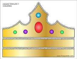 Select from 35450 printable crafts of cartoons, nature, animals, bible and many more. Prince And Princess Crown Templates Free Printable Templates Coloring Pages Firstpalette Co Crown Template Templates Printable Free Princess Crown Crafts