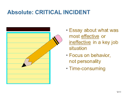 supervision in organizations ppt video online  absolute critical incident