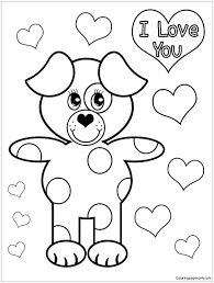 Puppy Love Coloring Pages
