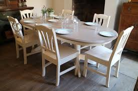 farmhouse extendable dining table and 6 chairs shabby chic table and six chairs