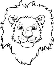 lion face black and white clipart. With Lion Face Black And White Clipart