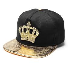 Mens Womens Snapback Hat KING Crown Baseball Caps Adjustable Hip Hop Hats Black Summer Peaked Rhinestone Crystal Sun Cap Cool Flat Brim From