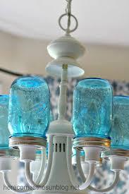 Mason jar lighting diy Crafts Blue Mason Jar Chandelier Diy The Saw Guy Check Out These 17 Amazing Diy Mason Jar Lights