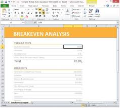 Break Even Point Excel Simple Breakeven Analysis Template For Excel 2013