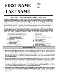 Oil And Gas Resume Templates Samples Examples Resume Templates 101