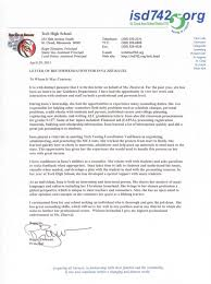 Letter To School Principle Tech High School Principals Recommendation Letter For Inna Collier