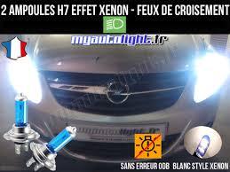 H7 Xenon White Bulbs Lamps Croisement Code Pack For Opel Corsa D