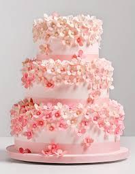 trend report pink wedding cakes