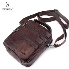 zznick 2018 genuine cowhide leather shoulder bag small messenger bags men travel cross bag handbags new fashion men bag flap ping hungama