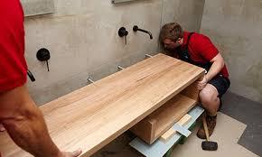 Image Sink Install Vanity In Bathroom Bunnings Warehouse How To Build Diy Floating Hardwood Vanity Bunnings Warehouse