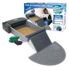 Amazon.com : SmartScoop Automatic Self-Cleaning Litter Box : Smartscoop  Self Scooping Cat Litter Box : Pet Supplies