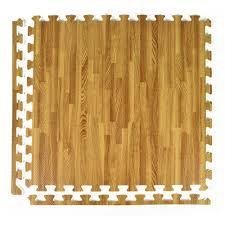greatmats foamfloor light wood grain design 2 ft x 2 ft x 1