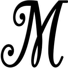 fancy letter m metal script letters wall plate design ideas