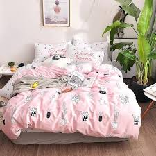 pink bedding brief bonsai set cotton fabric queen twin size duvet cover comforter camo crib canada