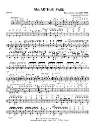 drum set sheet music macarthur park drum set opt sheet music for piano and more