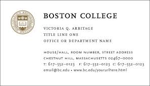 business card office business cards office of marketing communications boston college