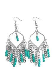turquoise chandelier dangle earrings