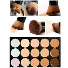 10 15cm natural professional concealer palettes 15 colors makeup foundation face cream cosmetic make up brush in concealer from beauty health on